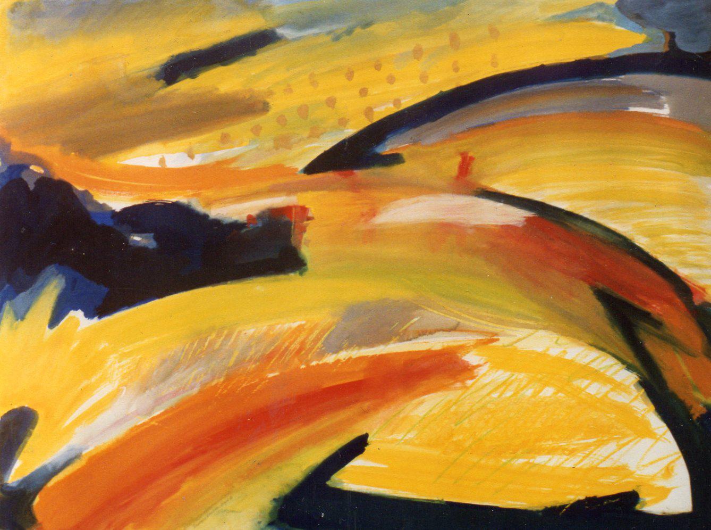 Aestival Landscape   1988   Gouache & Oil Pastel   57 x 76