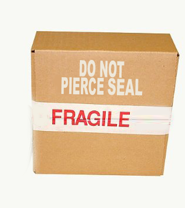 Do not pierce seal
